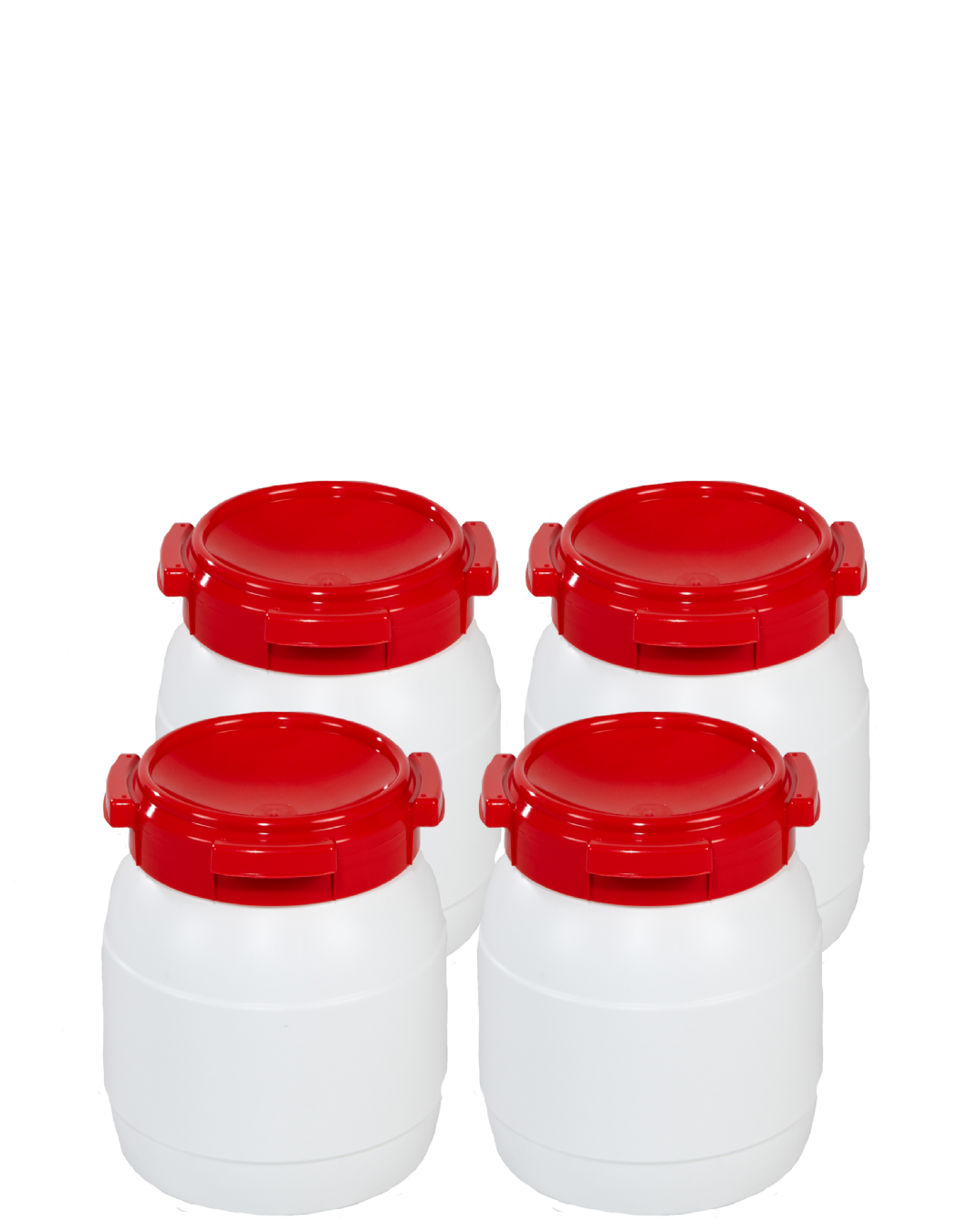 10 Litre Wide Neck Plastic Drum - Pack of 4 Drums